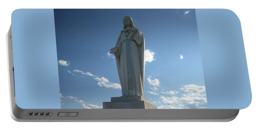Portable Battery Charger featuring the photograph Mother Cabrini Shrine by Rocky Washington