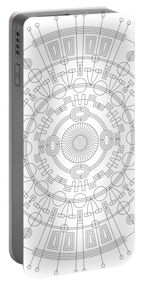 Relief Portable Battery Charger featuring the digital art Mother by DB Artist