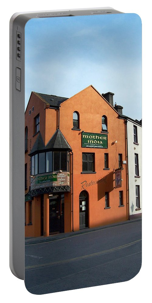 Ireland Portable Battery Charger featuring the photograph Mother India Restaurant Athlone Ireland by Teresa Mucha