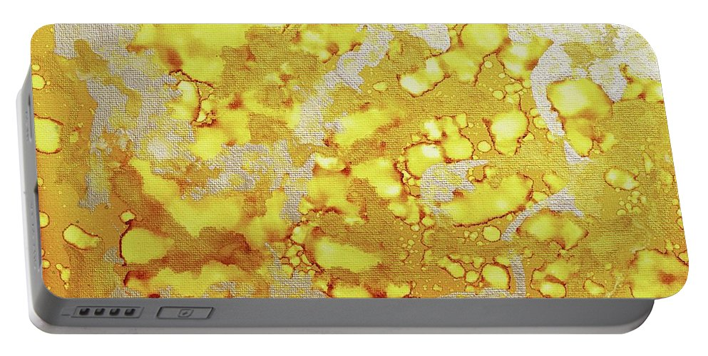 Alcohol Inks Portable Battery Charger featuring the painting Mother Lode - V1fs100 by Keith Elliott