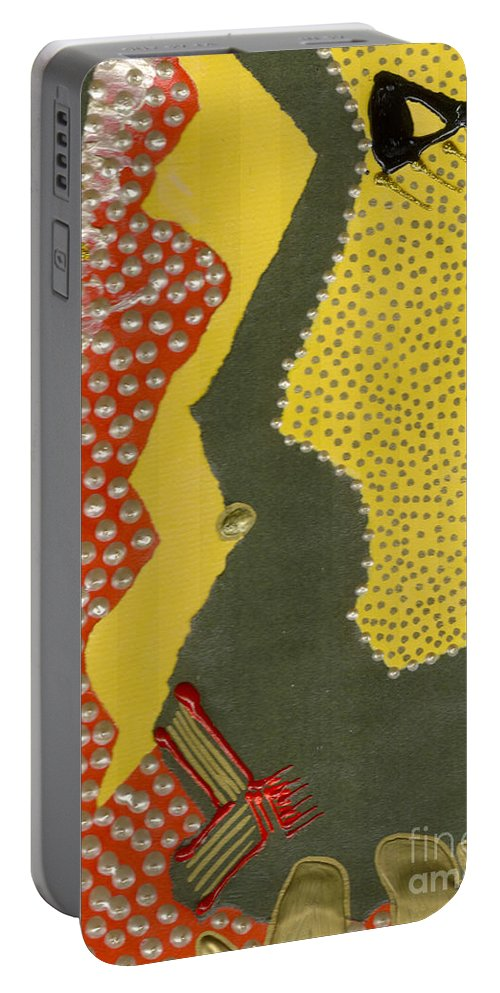 Gretting Cards Portable Battery Charger featuring the mixed media Mother Of Pearls by Angela L Walker