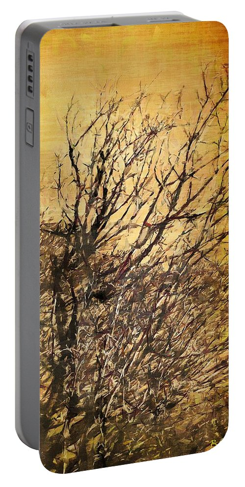 Asian Portable Battery Charger featuring the painting Motif Japonica No. 14 by RC DeWinter