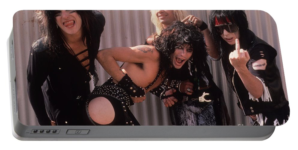 Motley Crue Portable Battery Charger featuring the photograph Motley Crue by David Plastik