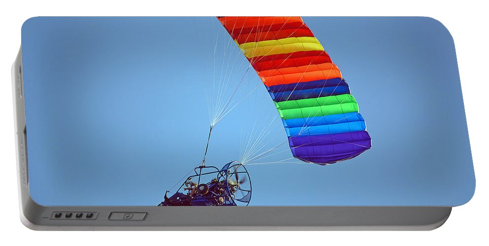 Parasail Portable Battery Charger featuring the photograph Motorized Parasail 2 by Kenneth Albin