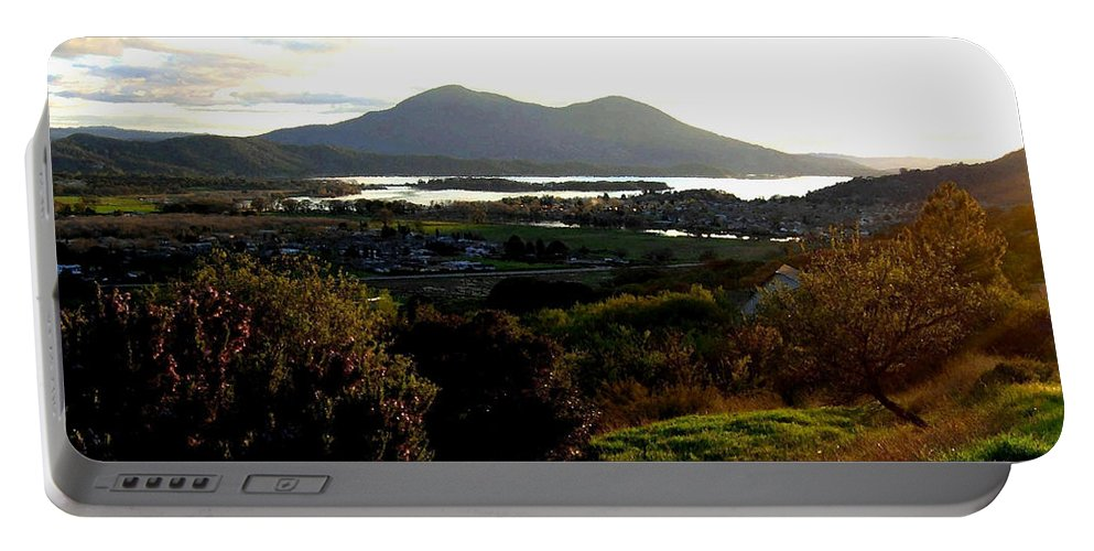 Mount Konocti Portable Battery Charger featuring the photograph Mount Konocti by Will Borden