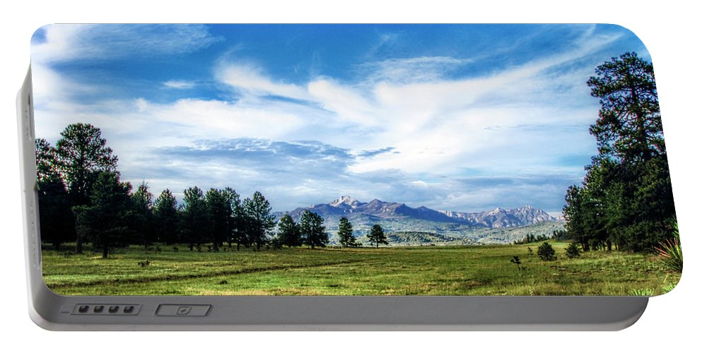 Colorado Portable Battery Charger featuring the photograph Mount Pagosa Meadow by Mike Braun
