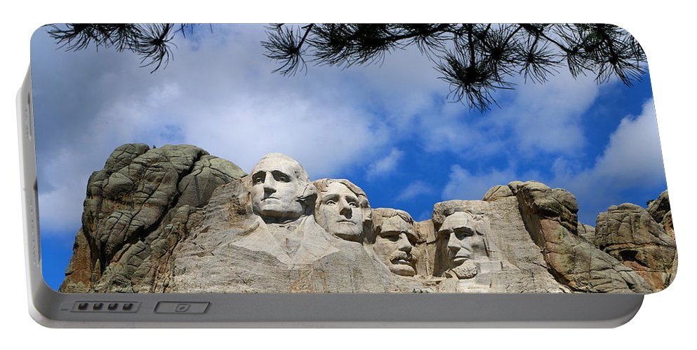 Mount Portable Battery Charger featuring the photograph Mount Rushmore by Christiane Schulze Art And Photography