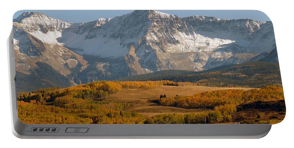 Mount Sneffels Portable Battery Charger featuring the photograph Mount Sneffels by David Lee Thompson