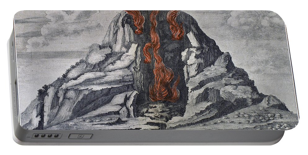 1665 Portable Battery Charger featuring the photograph Mount Vesuvius, 1665 by Granger