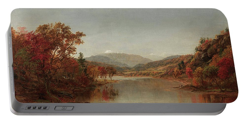 Mount Washington Portable Battery Charger featuring the painting Mount Washington, New Hampshire by Jasper Francis Cropsey