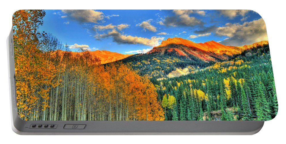 Mountain Portable Battery Charger featuring the photograph Mountain Beauty Of Fall by Scott Mahon