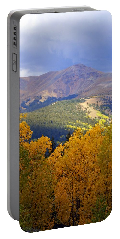Colorado Portable Battery Charger featuring the photograph Mountain Fall by Marty Koch