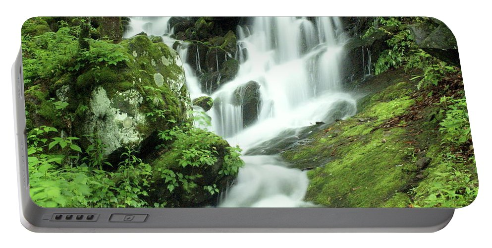 Waterfalls Portable Battery Charger featuring the photograph Mountain Falls by Marty Koch