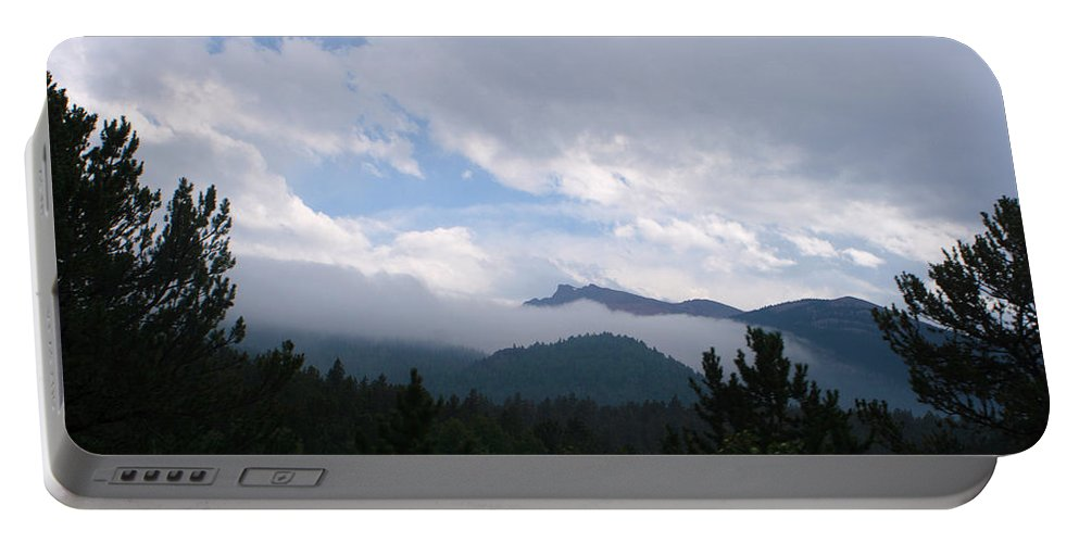 Beautiful Portable Battery Charger featuring the photograph Mountain Forest by Scott Sanders