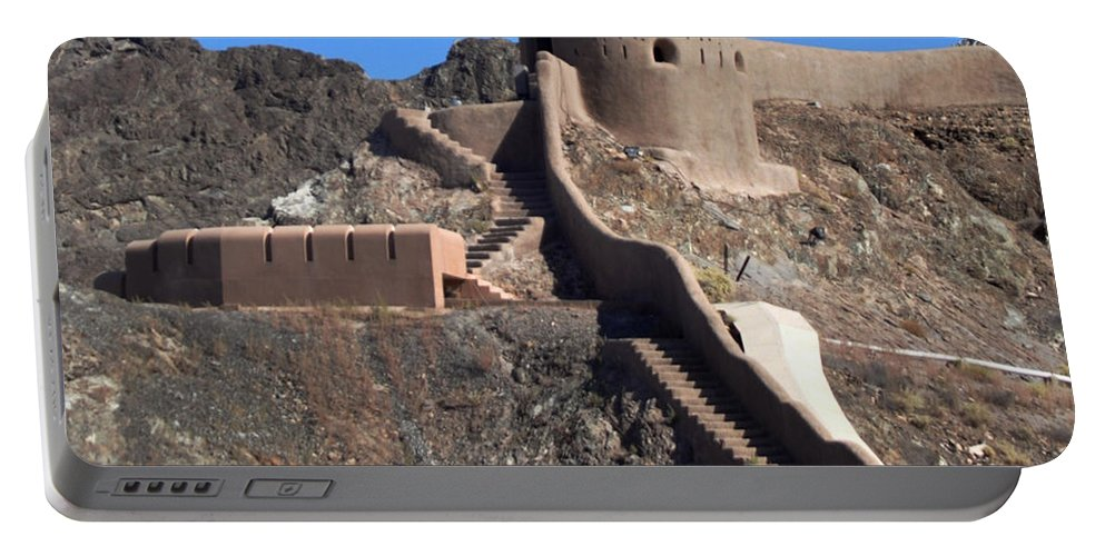 Fort Portable Battery Charger featuring the photograph Mountain Fort by John Hughes