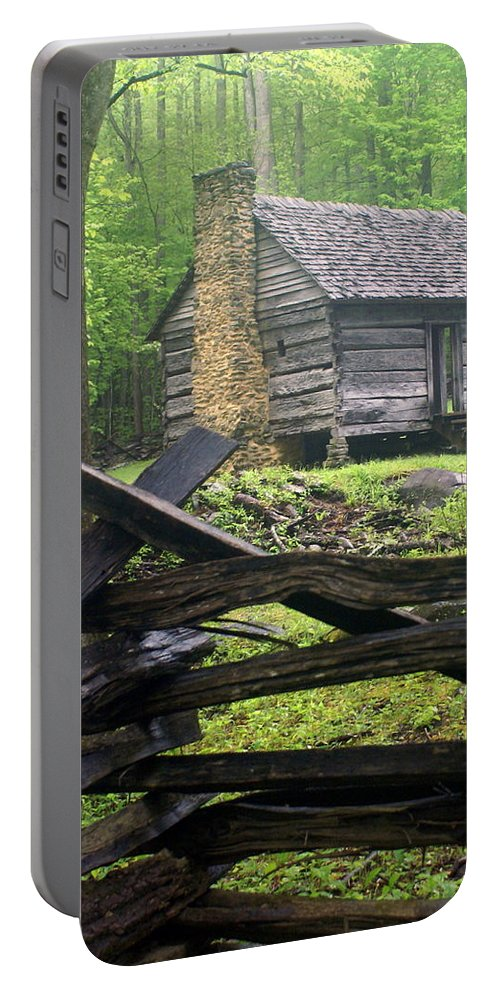 Smokey Mountain National Park Portable Battery Charger featuring the photograph Mountain Homestead by Marty Koch