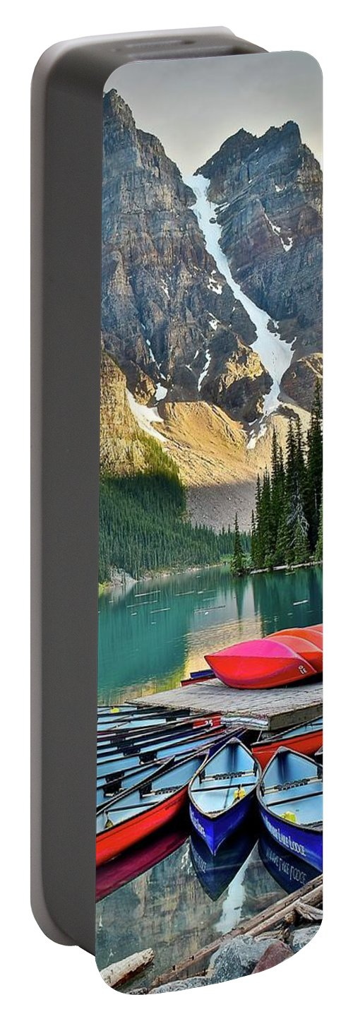 Mountain Portable Battery Charger featuring the photograph Mountain Lake by Frozen in Time Fine Art Photography