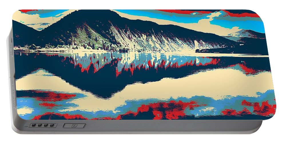 Nature Portable Battery Charger featuring the painting Mountain Landscape Poster by Celestial Images