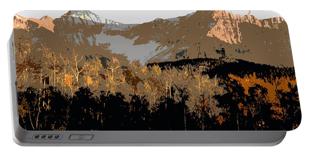 Mountains Portable Battery Charger featuring the painting Mountain Majesty by David Lee Thompson