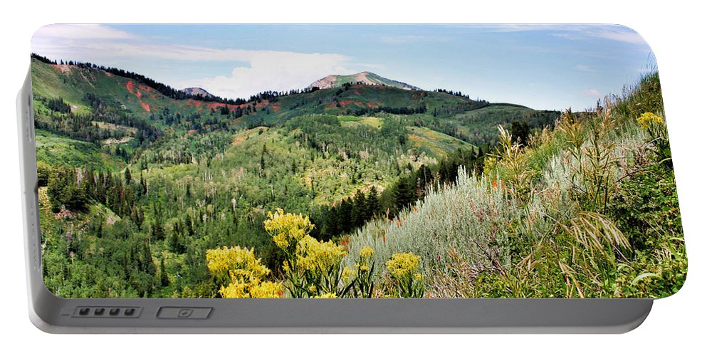 Mountain Portable Battery Charger featuring the photograph Mountain Meadows by Kristin Elmquist