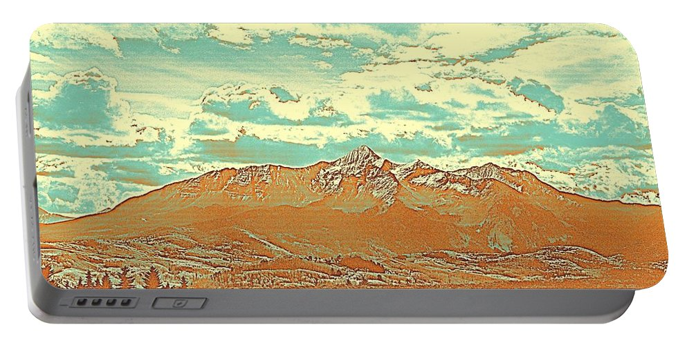 Nature Portable Battery Charger featuring the painting Mountain Range 2 by Celestial Images