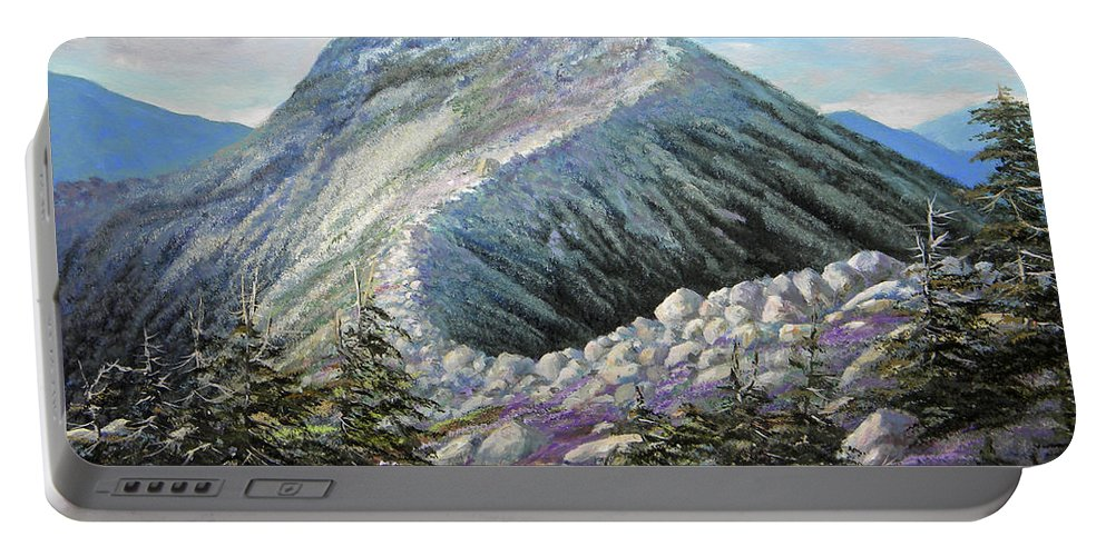 Landscape Portable Battery Charger featuring the painting Mountain Ridge by Frank Wilson