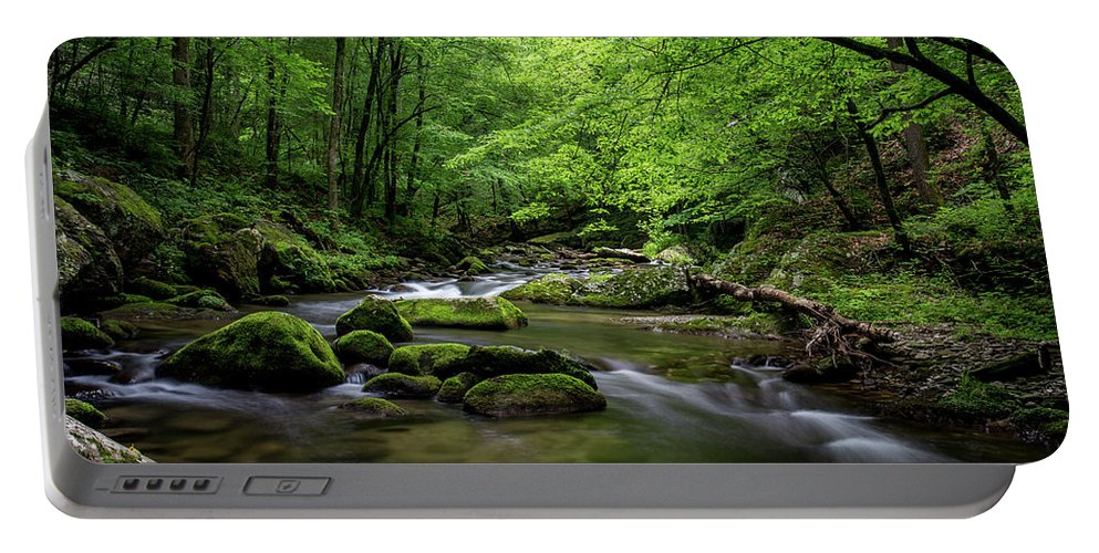 Adventure Portable Battery Charger featuring the photograph Mountain Stream by Benjamin King