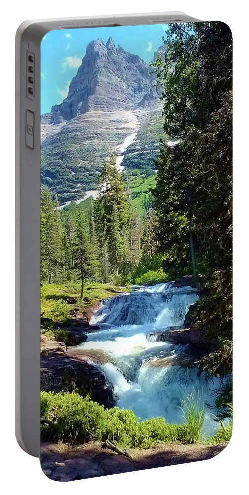 Mountains Portable Battery Charger featuring the photograph Mountain Stream by Eric Fellegy