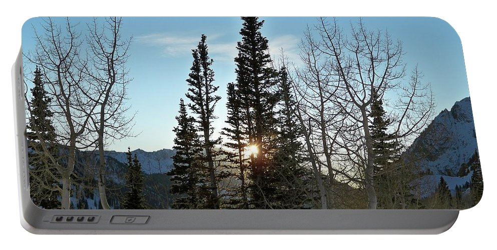 Rural Portable Battery Charger featuring the photograph Mountain Sunset by Michael Cuozzo