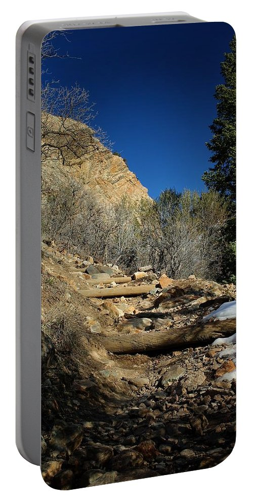 Trail Portable Battery Charger featuring the photograph Mountain Trail by Buck Buchanan