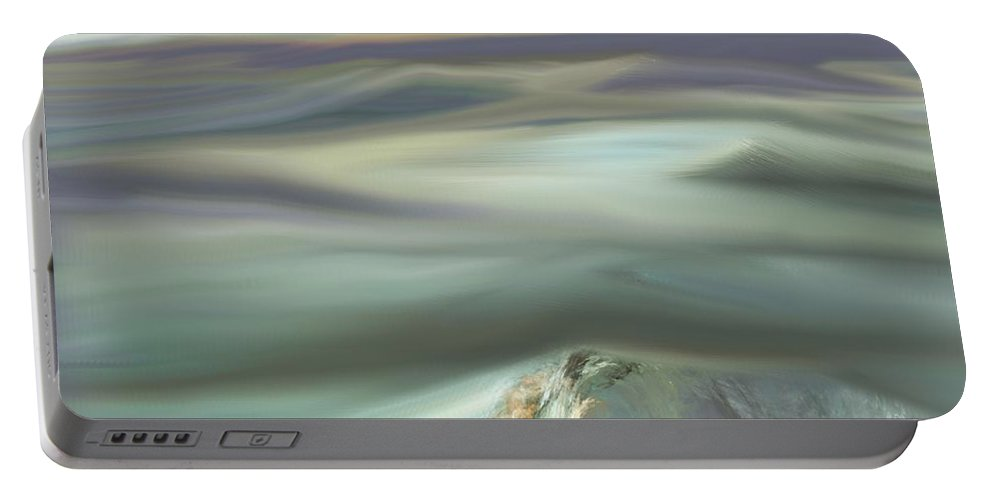 Fine Art Portable Battery Charger featuring the digital art Mountain View by David Lane