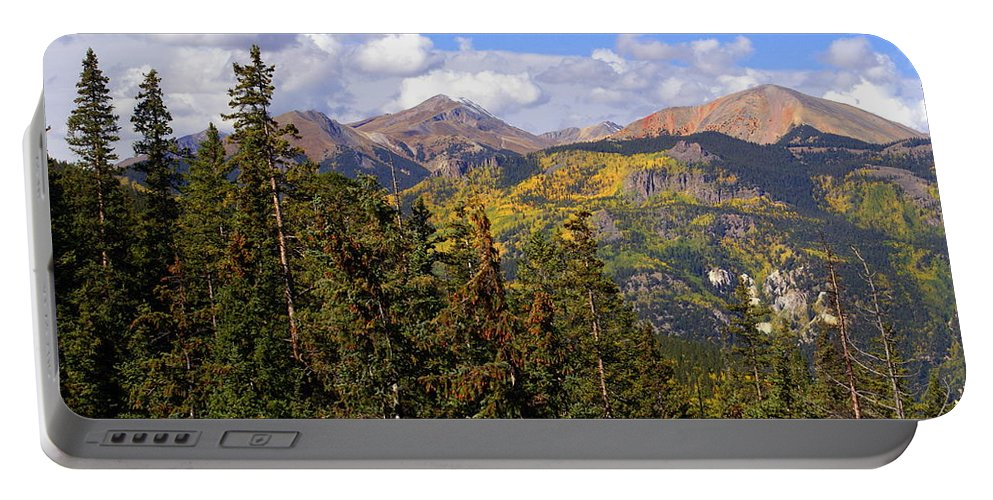 Colorado Portable Battery Charger featuring the photograph Mountains Aglow by Marty Koch