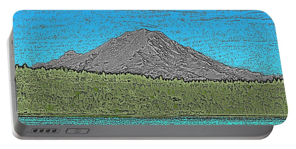Mountain Portable Battery Charger featuring the digital art Mountains Majesty by Tim Allen
