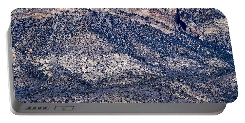 Red Rock Portable Battery Charger featuring the photograph Mountainside Abstract - Red Rock Canyon by Stuart Litoff