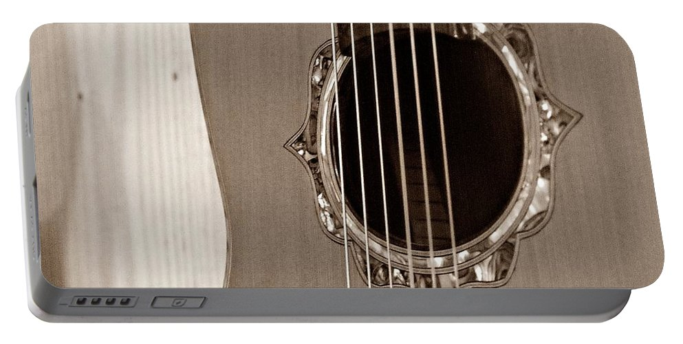 Guitar Portable Battery Charger featuring the photograph Mounted 6 String by Steve Cochran