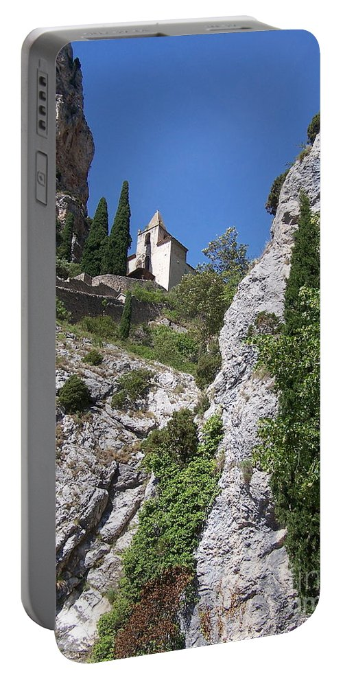Church Portable Battery Charger featuring the photograph Moustier St. Marie Church by Nadine Rippelmeyer