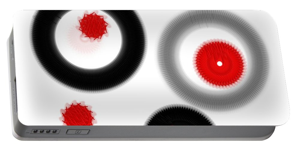 Abstract Portable Battery Charger featuring the digital art Movement by Yilmar Henry