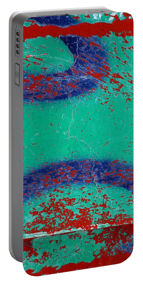 Skip Hunt Portable Battery Charger featuring the photograph Mr Blue Jangles by Skip Hunt