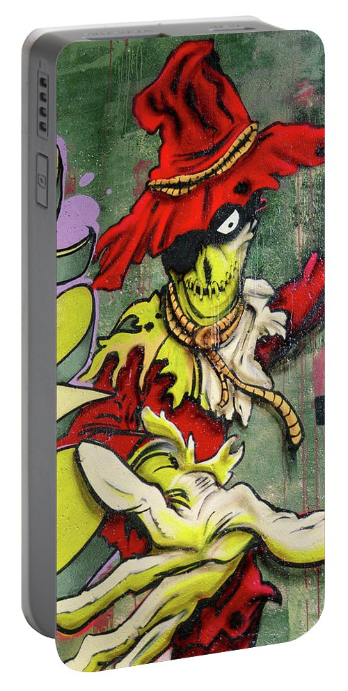 Paint Portable Battery Charger featuring the photograph Mr. Graffiti by Juergen Weiss