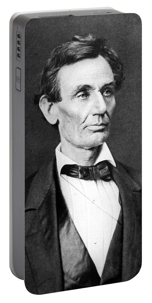 Abraham Lincoln Portable Battery Charger featuring the photograph Mr. Lincoln by War Is Hell Store