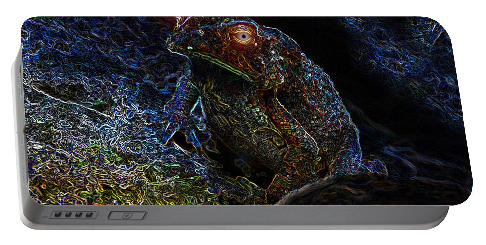 Art Portable Battery Charger featuring the painting Mr Toads Wild Eyes by David Lee Thompson