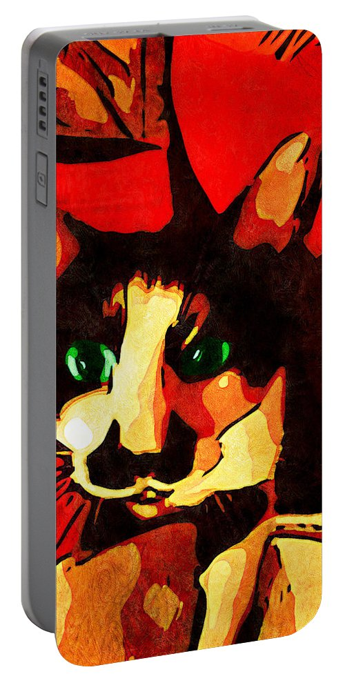 Portrait Portable Battery Charger featuring the photograph Mr. Wiggins by Iowan Stone-Flowers