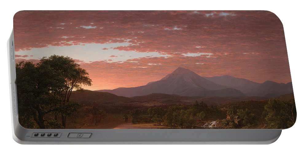 Painting Portable Battery Charger featuring the painting Mt Katahdin by Mountain Dreams