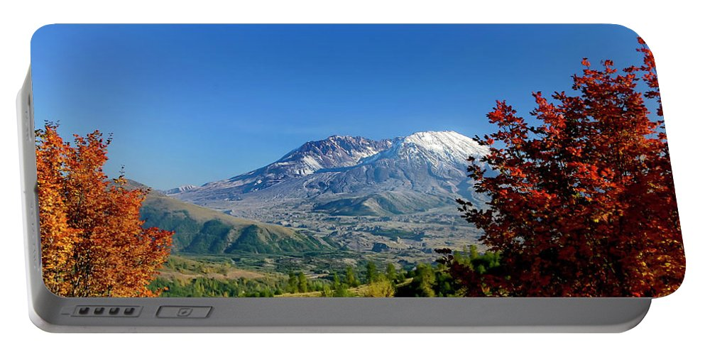 Mt St Helens Portable Battery Charger featuring the photograph Mt St Helens by Albert Seger