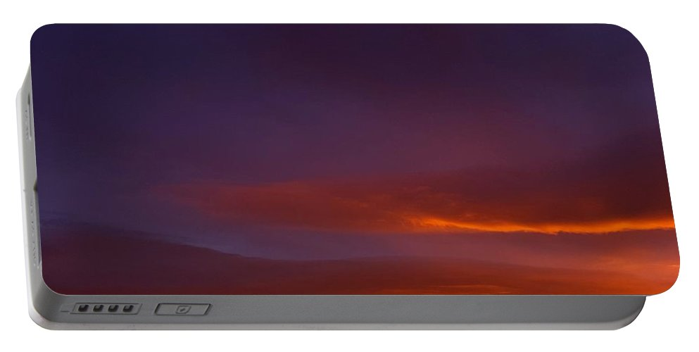 Landscape/ Sunrise Portable Battery Charger featuring the photograph Mt Taylor Grandeur Vista by Rudy Gallegos