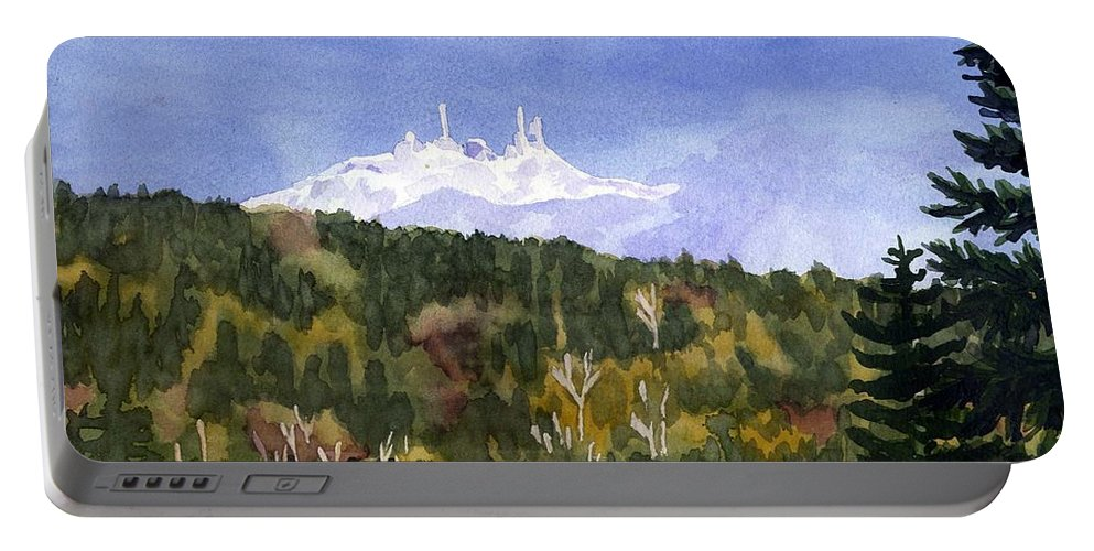 Landscape Portable Battery Charger featuring the painting Almost Mystical by Sharon E Allen