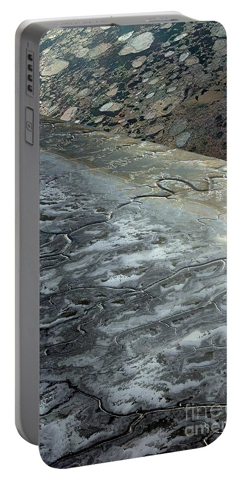 Mudflats Portable Battery Charger featuring the digital art Mudflats Frozen by Ron Bissett