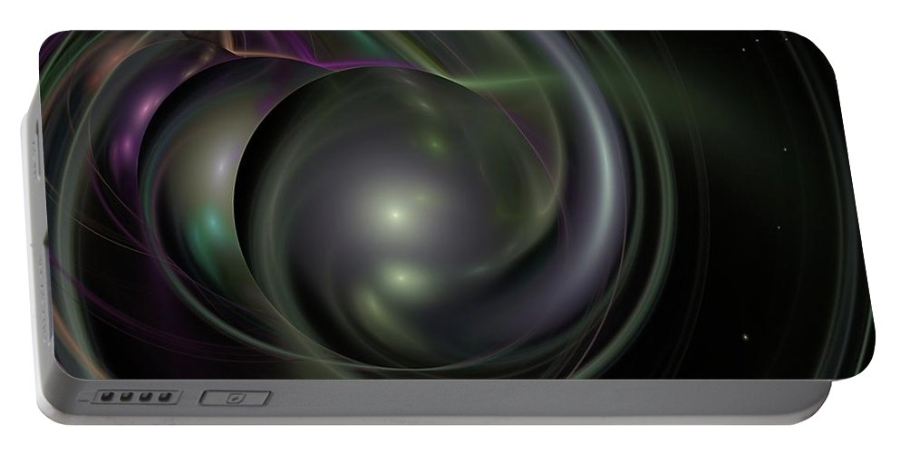 Fantasy Portable Battery Charger featuring the digital art Multiverse by David Lane