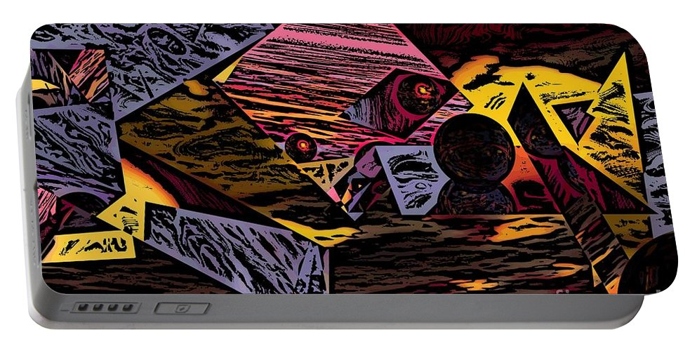 Portable Battery Charger featuring the digital art Multiverse II by David Lane