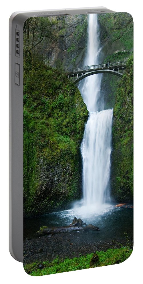 Waterfall Portable Battery Charger featuring the photograph Multnomah Falls by Renee Hong